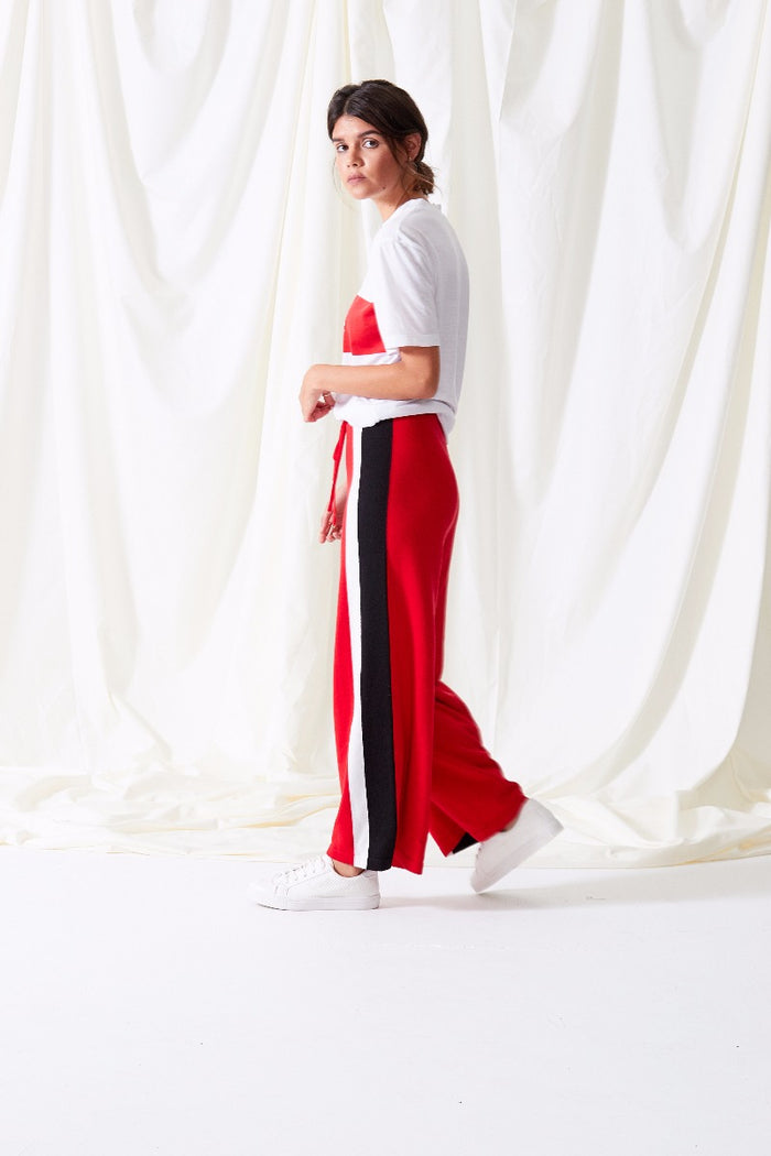 Stripe Knit Track Pants