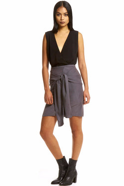 Drape Skirt - Grey