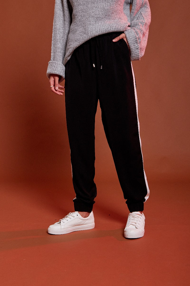 Formal Sports Luxe Rib Jogger - Black