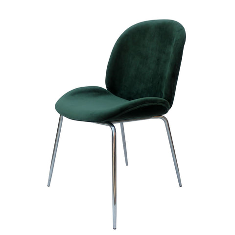 Chaise Charlize 110 Lot de 2 Vert - Chrome