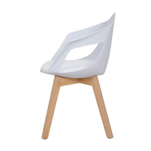 Chaise Design - Chandra 110 Lot De 2 Blanc