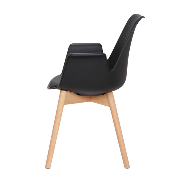 Chaise Design - Chaplin 110 Lot De 2 Noir