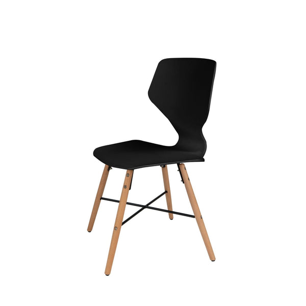 Chaise Design - Charlie 110 Lot De 4 Noir