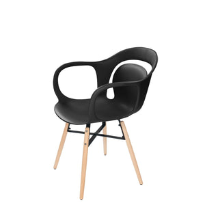 Chaise Design - Chuck 110 Lot De 4 Noir