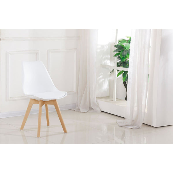 Chaise Design - College 110 Lot De 2 Blanc