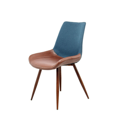 Chaise Evergreen 110 Lot de 2 Bleu Foncé - Marron