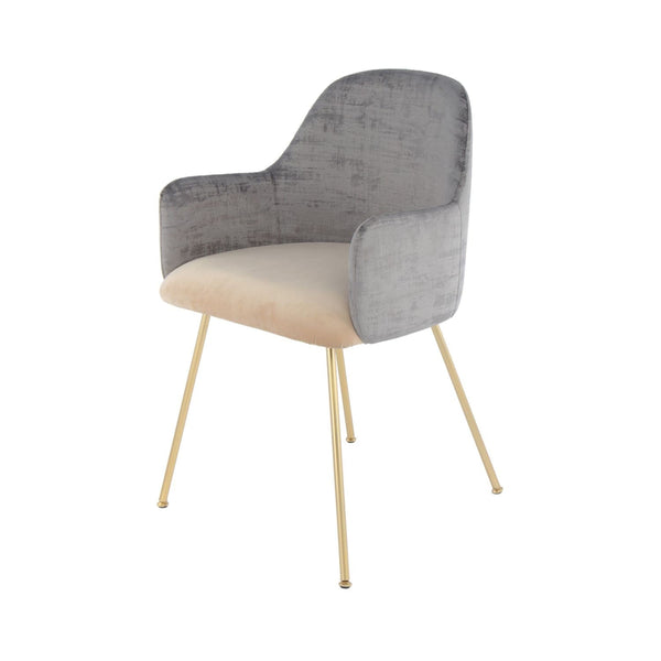 Chaise Richard 525 gris - beige - TVMRW | Yorohome