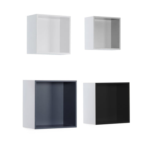 Étagère Murale Quadro 110 Lot De 4 Blancs / Multi