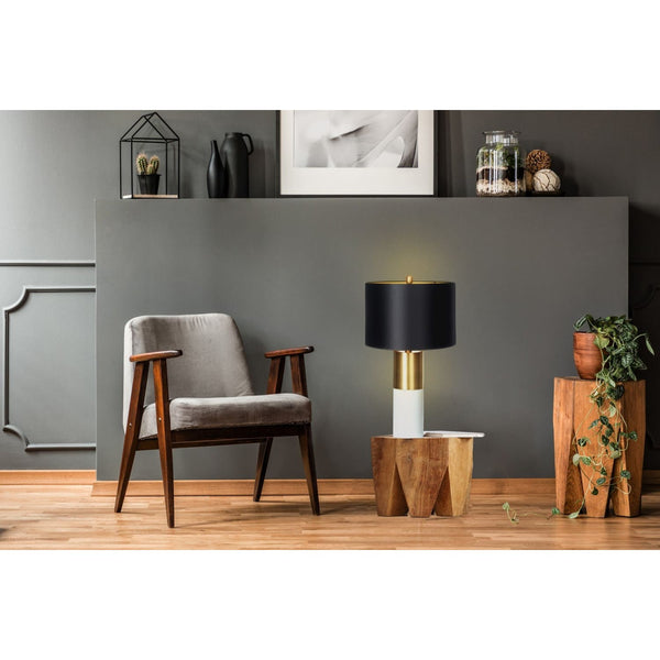 Lampe de Table - Orbit 110 Noir - Bronze - Blanc