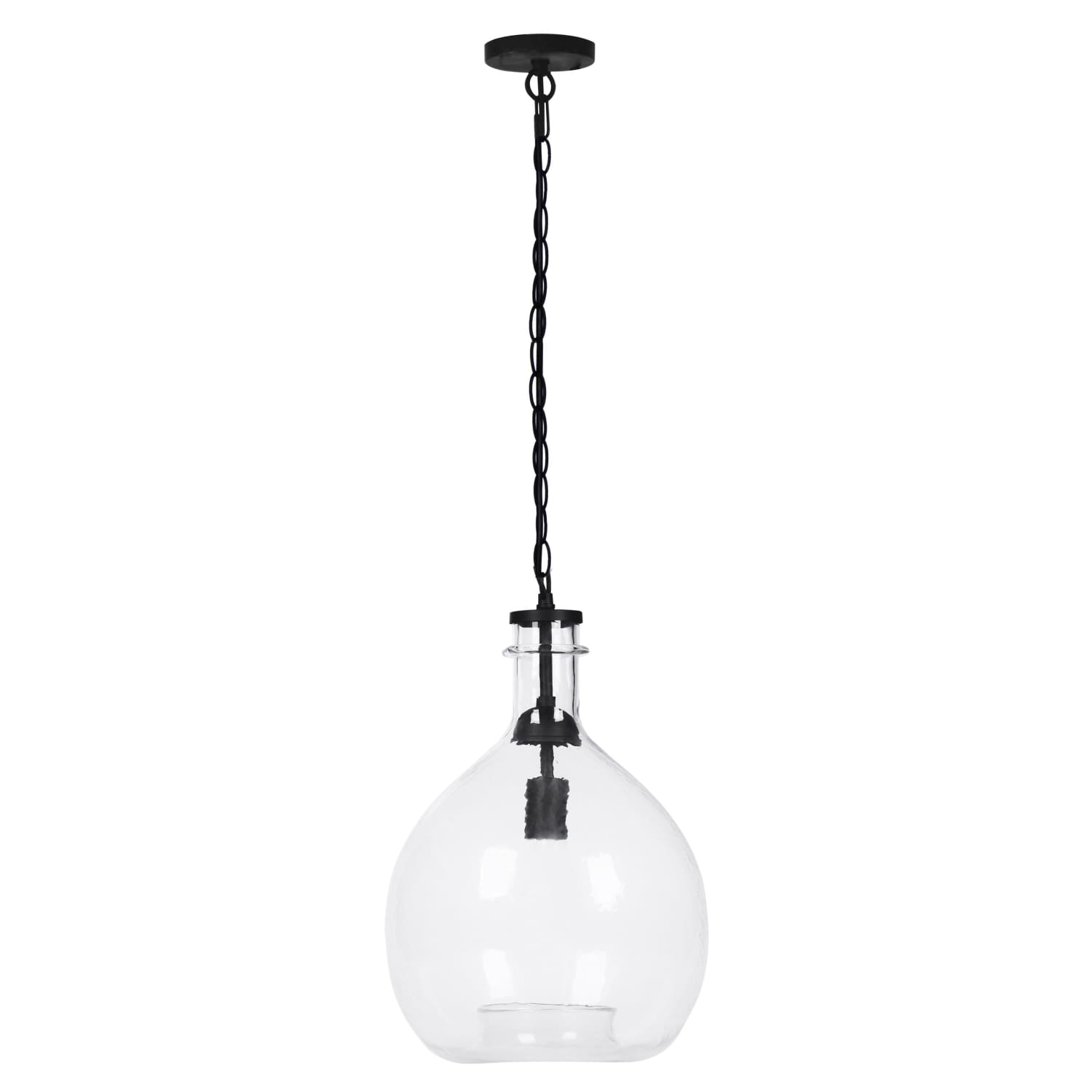 Lampe Suspendue - Altair Large Transparent - Noir