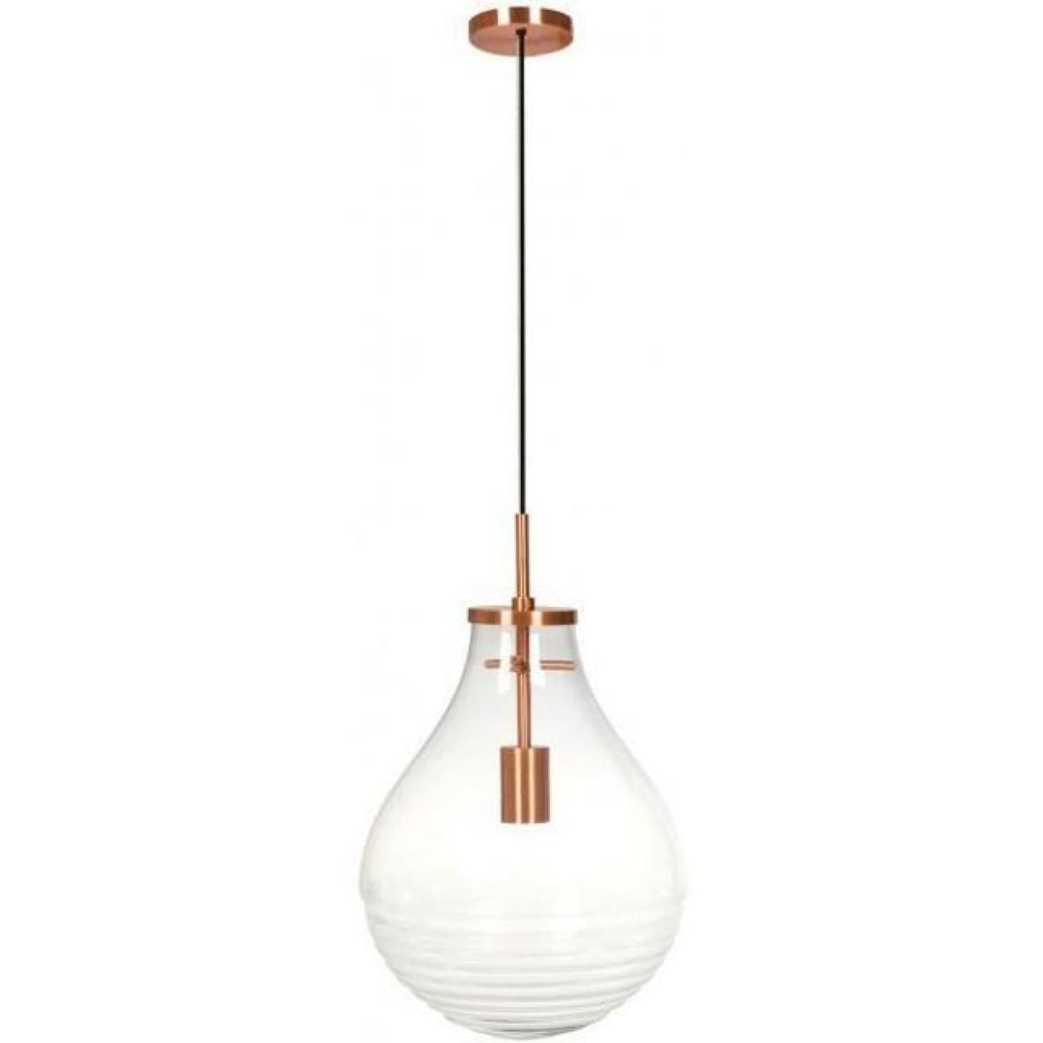 Lampe Suspendue - Tamo Large Transparent - Cuivre