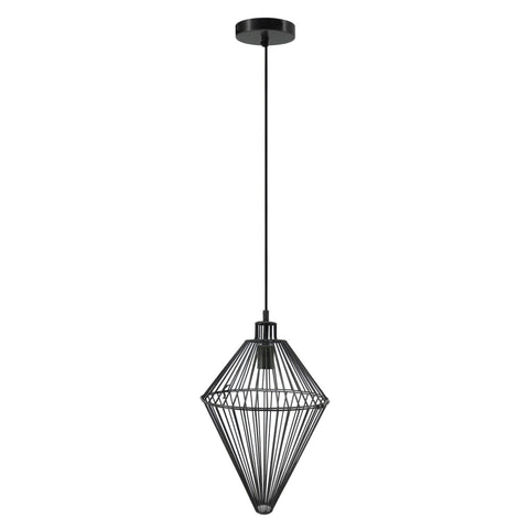 Lampe Suspension Design - Delta Noir