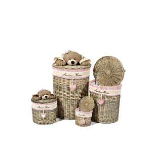 Paniers Marron et Beige  - Teddy 203 Lot de 4