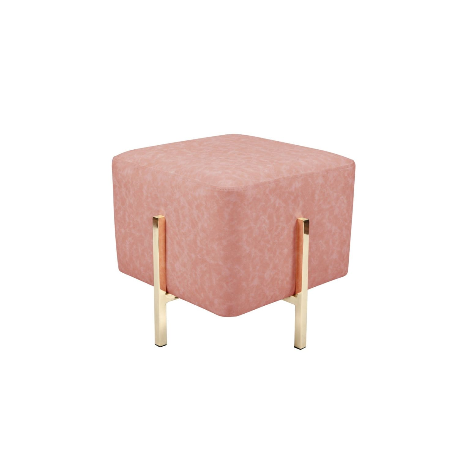Pouf - Tabouret - Lizia 210 Rose / Or