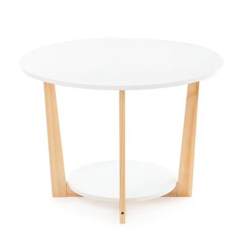 Table Basse avec Plateau Blanc - Coffeetable Pure Living