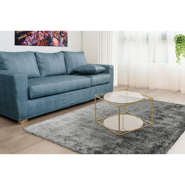 Table Basse - Cody 110 Gris - Gold