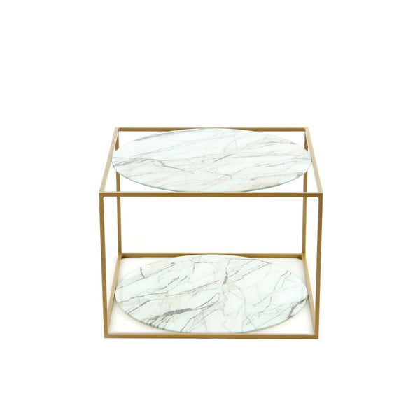 Table Basse - Cody 110 Marbre - Gold