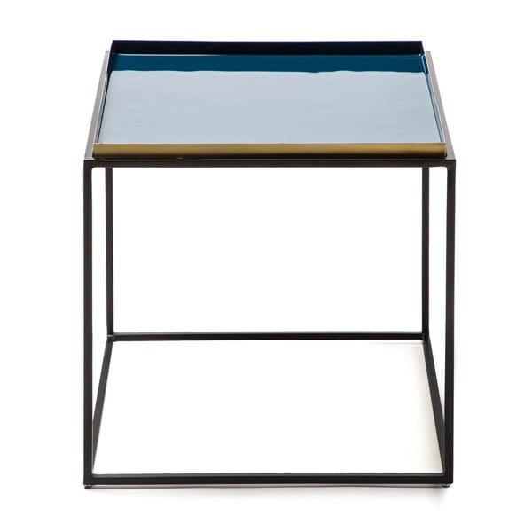 Table d'appoint - Famosa 260 Bleu - Gris - Orange