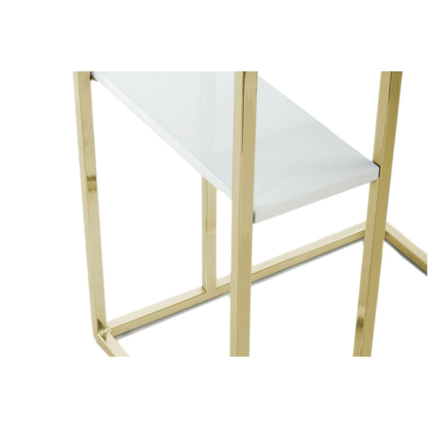 Table d'appoint - Luciana 110 Blanc - Gold