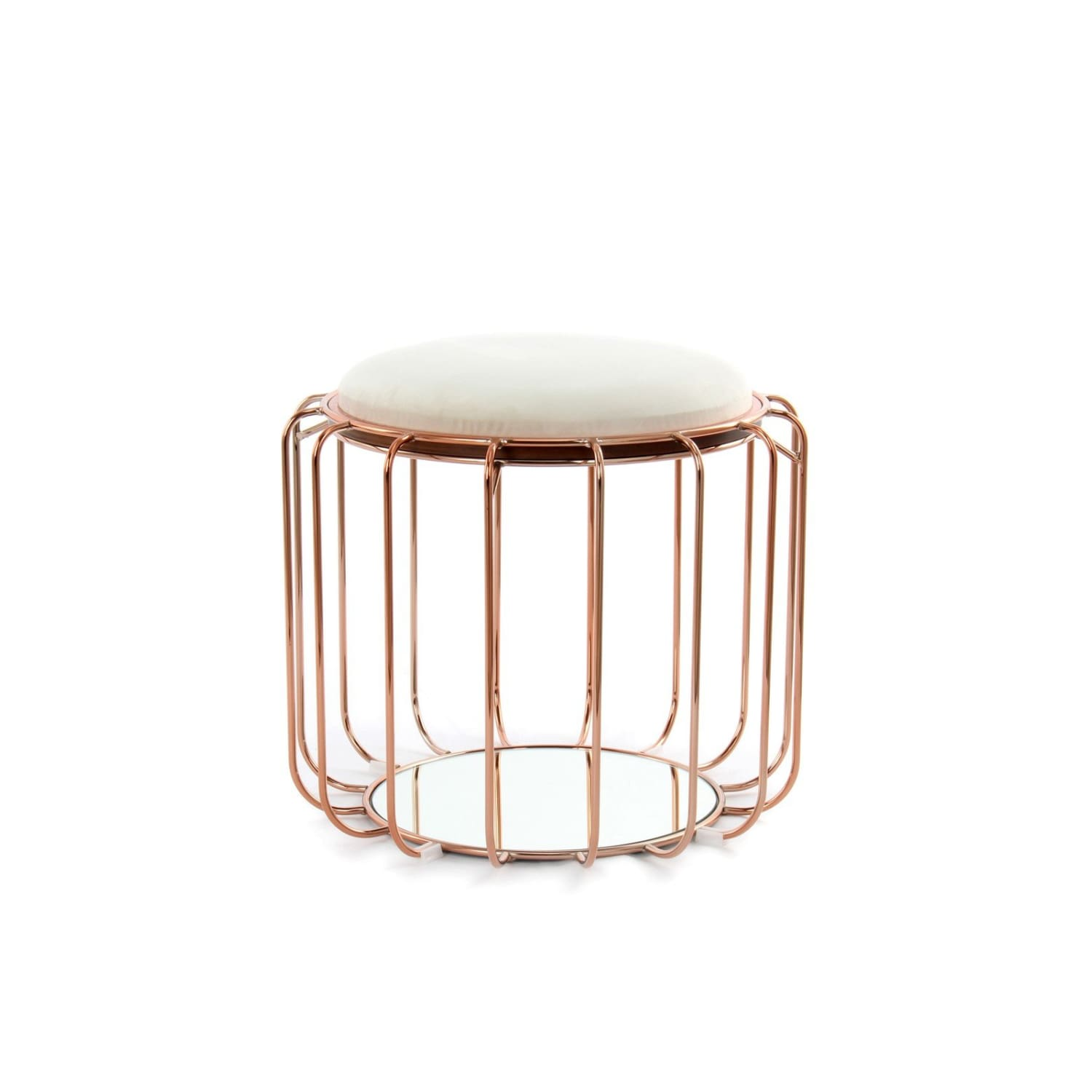 Table d'appoint & Pouf - 2 IN 1 - Comfortable 110 Beige - Rosé
