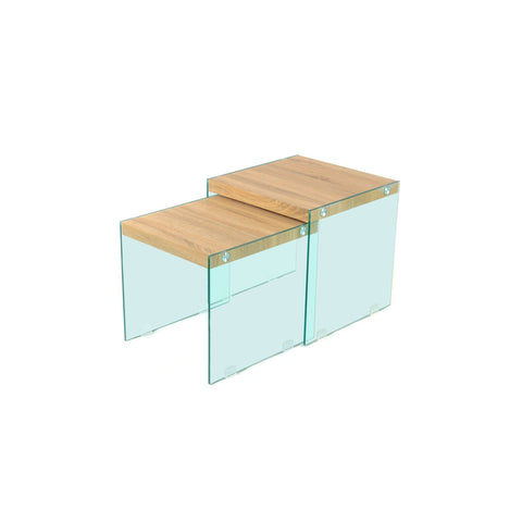 Table Gigogne - North 110 Lot de 2 Clair - Naturel