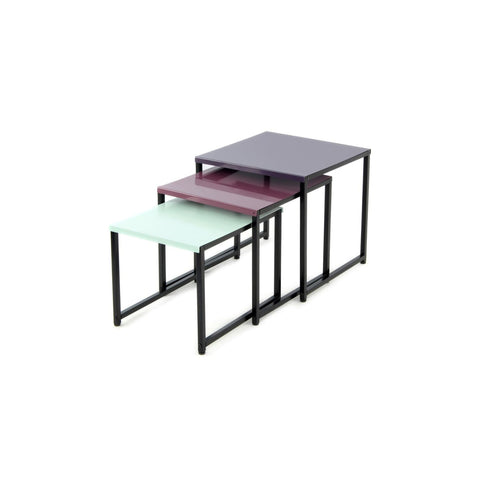 Table Gigogne - South 110 Lot de 3 Prune - Vert