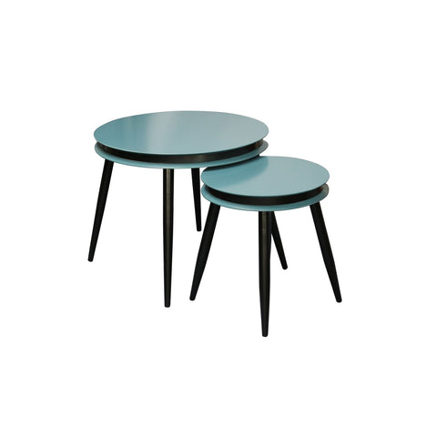 Table Gigogne - Suri 110 Lot de 2 Petrol - Noir