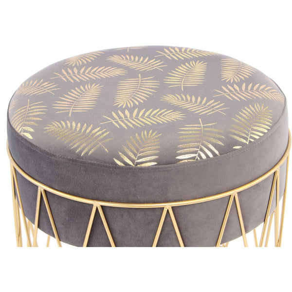 Tabouret Cleopatra 225 gris / or - Yorohome