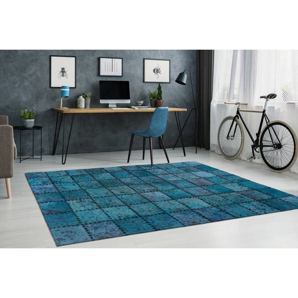 Tapis Cuir - Voila 100 Turquoise