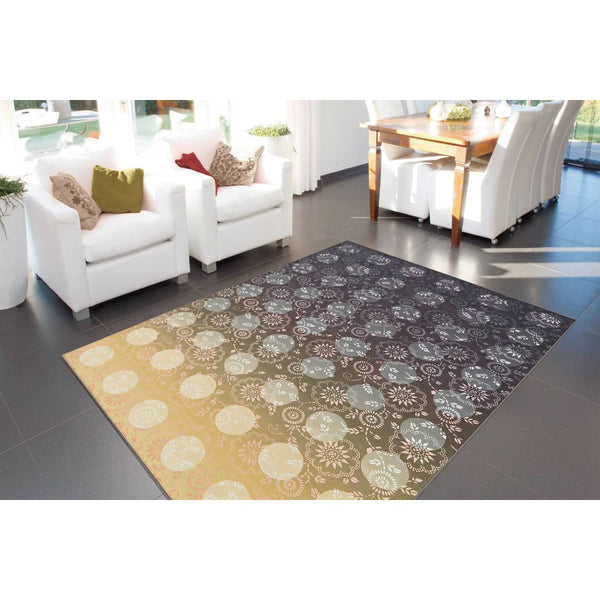 Tapis Design Moderne Flash 2706 Gris / Jaune