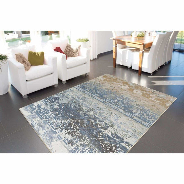 Tapis Design moderne Flash 2707 Multi - Bleu