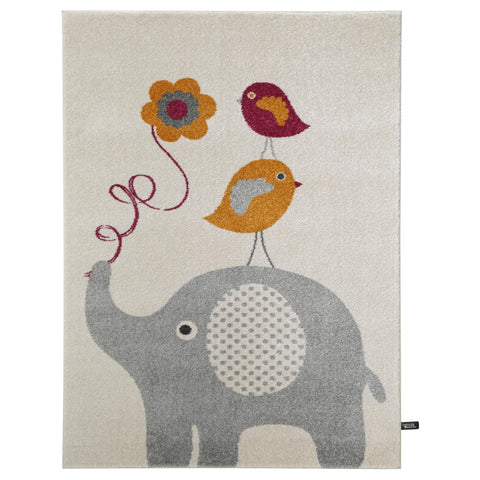 Tapis Enfant - Fantasia Birdies And Elephant - Orange