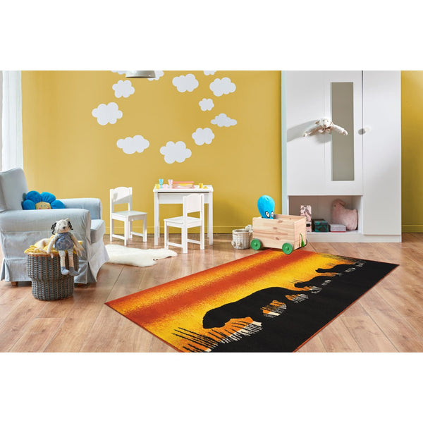 Tapis Enfant - Lol Enfants 4426 Orange - Jaune