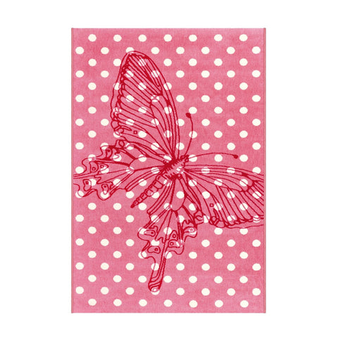 Tapis Enfant - Papillon Sun 4182 Rose