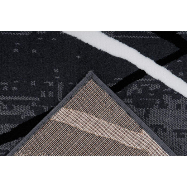 Tapis Moderne - Vancouver 110 Anthracite - Noir - Blanc