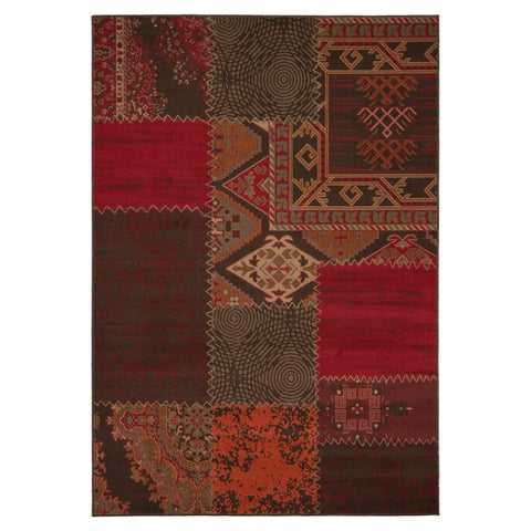Tapis Tissé - USA - Los Angeles Rouge