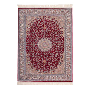Tapis Traditionnel Avec Franges - Jordanie - Amman Rouge
