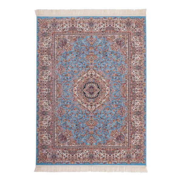 Tapis Traditionnel Avec Franges - Jordanie - Madaba Blue