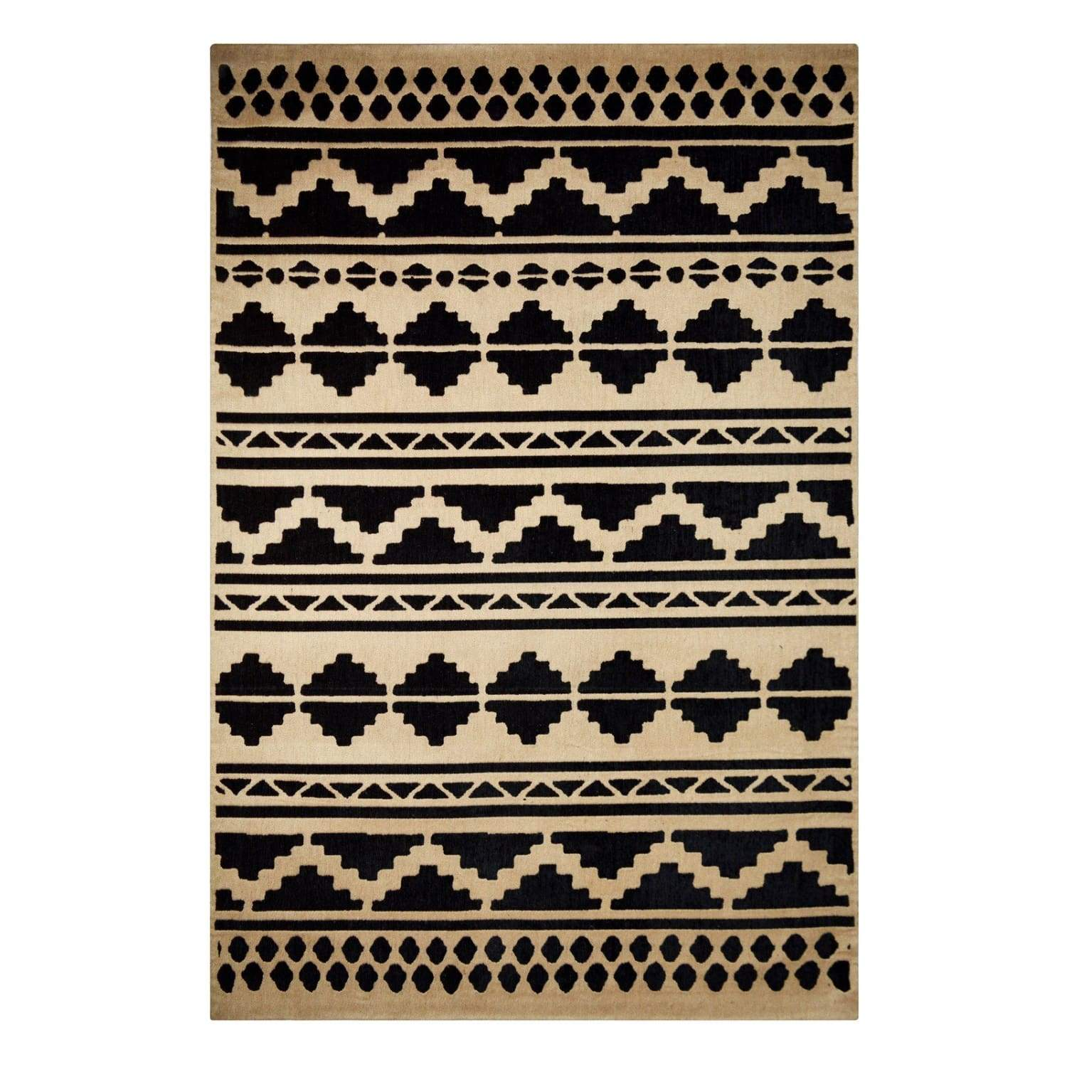 Tapis Traditionnel - Scandy 310 Noir - Naturel