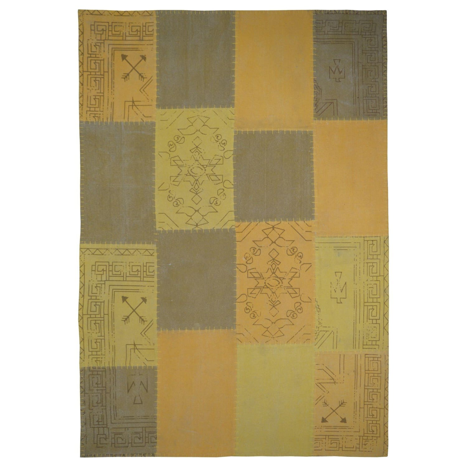 Tapis Vintage - Lyrical 210 Multi - Jaune
