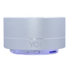 YO+ YOSUUM A10 Mini Portable Bluetooth Stereo Speaker With Built-In Mic & reflective LED, Support Hands-Free Calls & TF Card with FM radio (Silver)