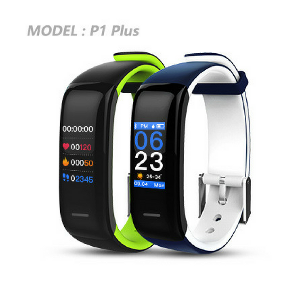 YO+ P1 Plus HD color display blood pressure and heart rate smart bracelet
