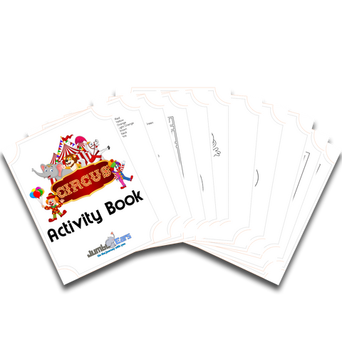 circus travel activity book
