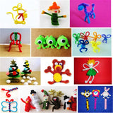 EASY BIG 100pcs Montessori Materials Chenille Puzzles Toy Craft Pipe Cleaner Math Educational Sticks Creative Puzzle NR0006 - JUMBO EARS