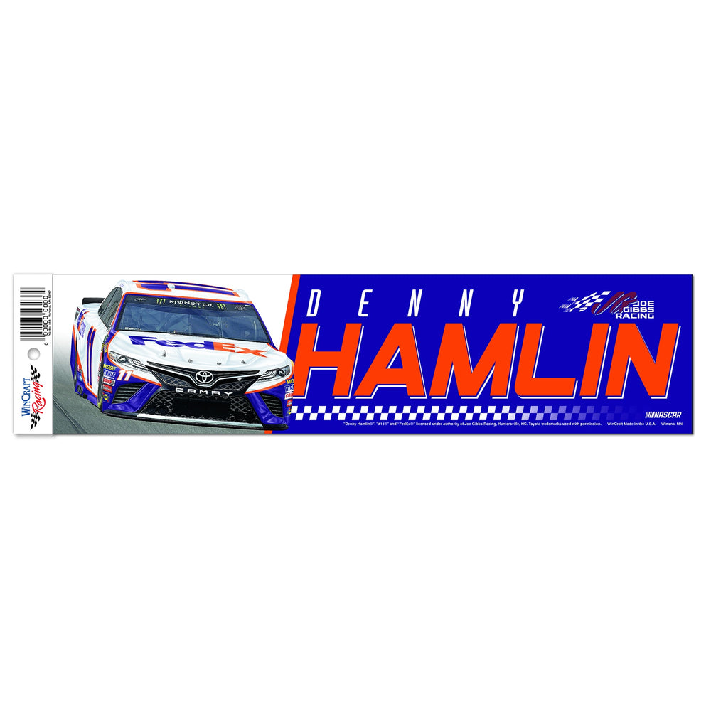 Denny Hamlin FedEx 3x12 Bumper Sticker 2019