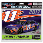 Denny Hamlin 2017 Playoff 4 x 6 Multi Use Decal