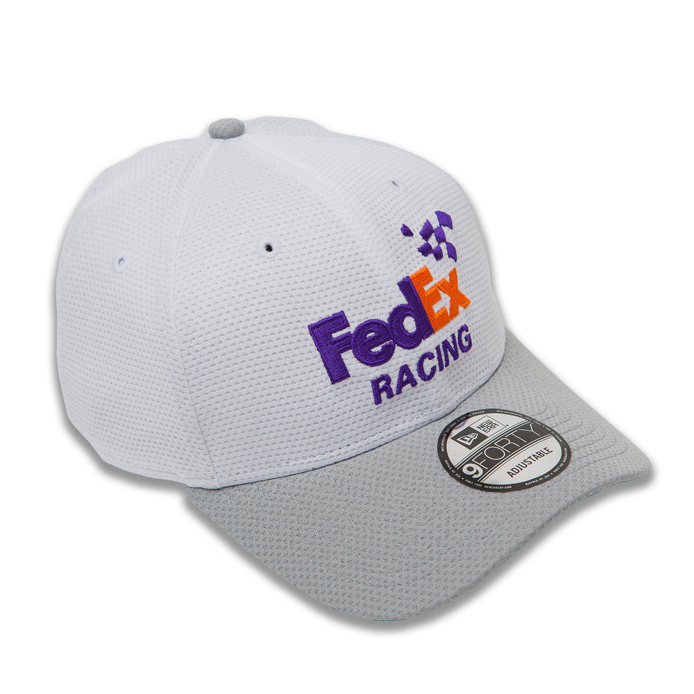 Denny Hamlin 2019 FedEx White/Gray NE940 Hat