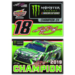Kyle Busch 2019 MENCS Champion Magnet Two Pack