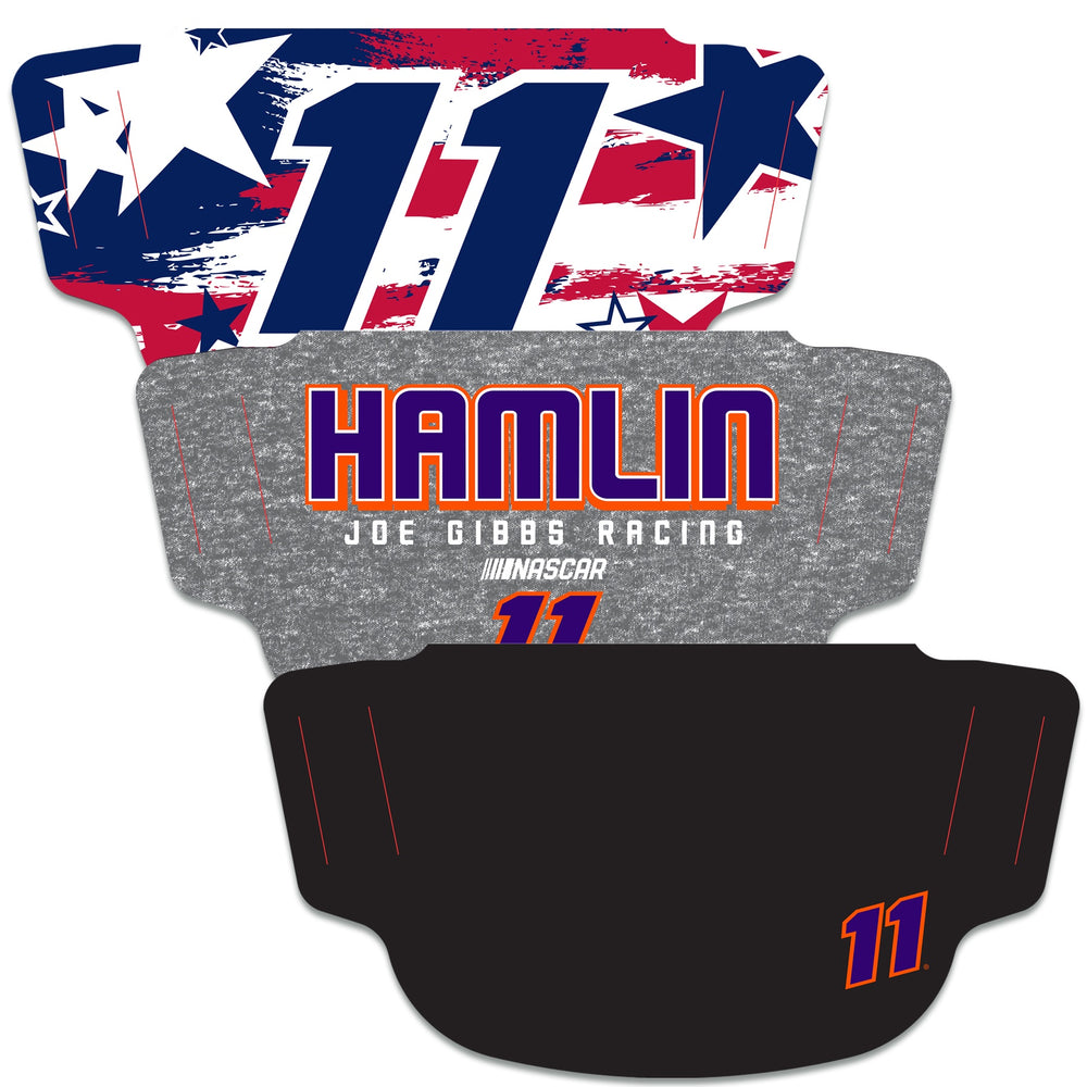 Denny Hamlin 3-Pack Fan Masks Face Covering