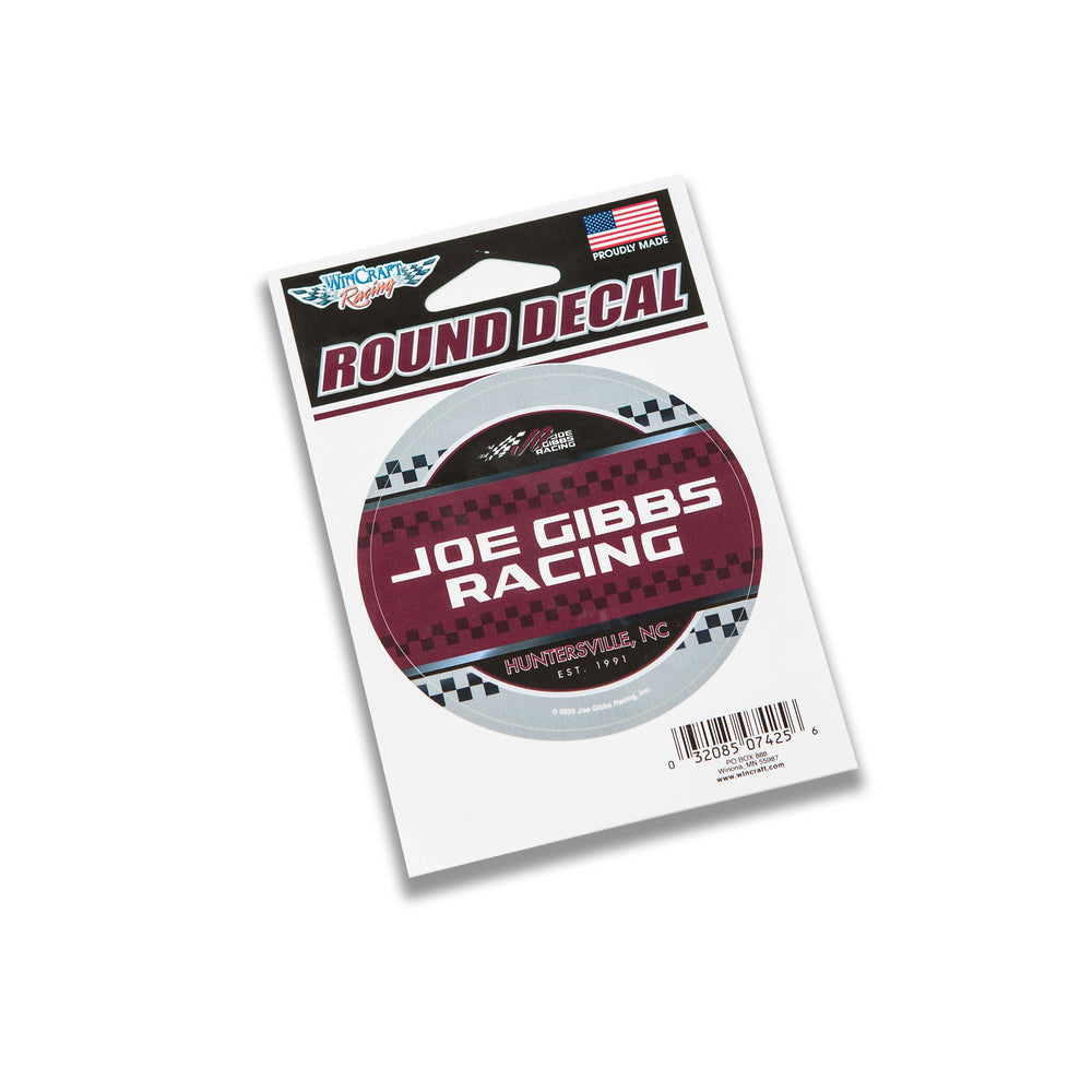 "JGR 3"" Round Decal"